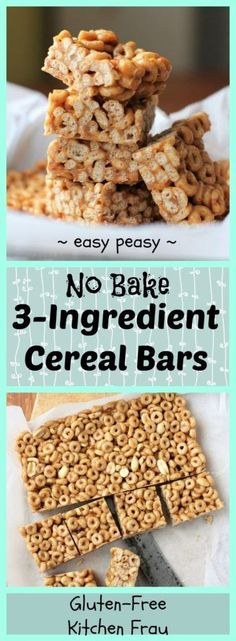 Easy Cooking with Kids Project - 3 Ingredient No Bake Cereal Bars baking recipes 3 ingredients for kids Easy 3 Ingredient No Bake Cereal Bars Easy Baking For Kids, Baking With Toddlers, Baking Recipes For Kids, Easy Meals For Kids, Easy Recipes, Cooking With Children, Recipes For Children, No Bake Ideas For Kids, Recipes With Cereal