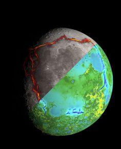 Gewaltige rechteckige Schwerkraftanomalie auf dem Mond klärt Entstehung des Meeres der Stürme  http://grenzwissenschaft-aktuell.blogspot.de/2014/10/gewaltige-rechteckige.html  Abb.: NASA/Colorado School of Mines/MIT/Goddard Space Flight Center/Scientific Visualization Studio
