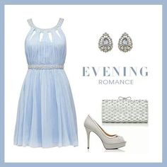 A little bit of blue for an evening romance