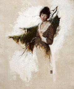 "Dean Cornwell - ""Frontier Woman"" (Cosmopolitan magazine story illustration) 1919, oil on canvas, 60.96 x 50.8 cm."