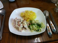 요리: 양파베이컨크림소스 닭가슴살스테이크