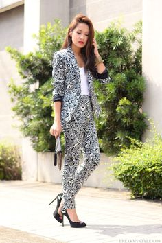 Black and White Jumpsuit.