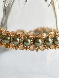 Handmade Wire, Handmade Jewelry, Swarovski, Beaded Bracelets, Beads, Gold, Fashion, O Beads, Moda