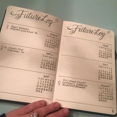 Future Log without times Layout for a Bullet Journal