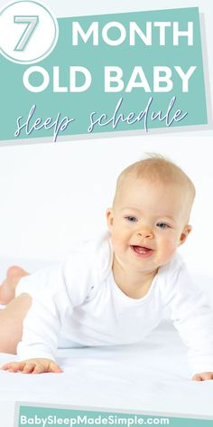 Do you want to get advice that actually works and helps your 7 month old sleep through the night? Then this article is for you. It's got everything on sleep schedule, bedtime and nap schedule, all the information you need about the 7 month sleep regression, and amazing sleep tips that work like a charm. Get your bay sleeping through the night! #babysleeptips #7montholdbaby #sleepschedule #babysleepschedule #babysleeproutine #sleeproutine Baby Sleep Routine, Baby Sleep Schedule, Bedtime Routine, 7 Month Old Sleep, 7 Month Old Baby, 7 Month Sleep Regression, 7 Month Olds, Sleeping Through The Night, Baby Development