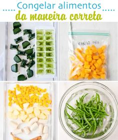 Como fazer - Congelamento - Congelando alimentos conservando seus nutrientes Healthy Tips, Healthy Eating, Healthy Recipes, Meal Prep For Beginners, Light Recipes, Freezer Meals, Veggie Recipes, Food Hacks, Food Inspiration