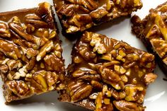 Pecan Turtle Brownies..OMG...YUM! Even great idea to chop up and put in vanilla ice cream, or just a scoop of ice cream on top with caramel syrup on top...the possibilities are endless :-)