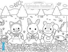Coloriage : Les Sylvanians à Pâques Family Coloring Pages, Coloring Pages For Girls, Coloring Book Pages, Coloring For Kids, Printable Coloring Pages, Coloring Sheets, Adult Coloring, Poppy Coloring Page, Cat Coloring Page