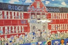 Community Tile Wall Mural Project, Ridge Street School #schooldecorideas #communitybuilding #elementaryschool