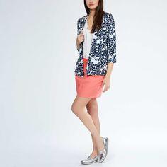 Giacca tailleur leggera stampata Donna - Kiabi - 12,60€ Manteau Femme Trench , 3d88ae32bad
