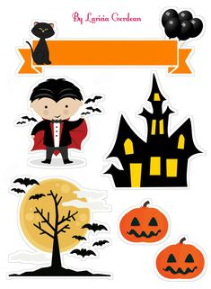 Halloween Meninas, Halloween Infantil, Bolo Halloween, Moldes Halloween, Art Halloween, Halloween Rocks, Halloween Stickers, Halloween Cookies, Halloween Party Decor