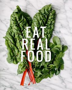 Just real, natural food with ingredients you can pronounce.