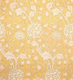 'Wild tulip wallpaper' [yellow]    c.1900, London  MORRIS & COMPANY, London  Britain, 1861 - 1940    MORRIS, William, designer  Britain, 1834 - 1896    JEFFREY & COMPANY, printer  Britain, 1836 - 1930        colour woodcut on paper    58.0 x 53.0 cm    Gift of Marbury School Inc. 1992    Art Gallery of South Australia, Adelaide