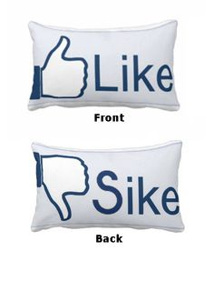 2 Sided Like / Sike - facebook social network Pillow