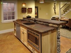 Like The Bar Countertop What Material Is That Basement Renovation Design Pictures Remodel Decor And Ideas