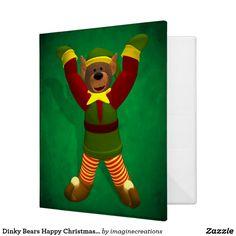 Dinky Bears Happy Christmas Elf Binder
