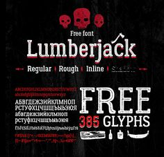 Free Font Of The Day : Lumberjack