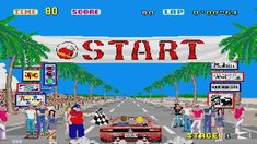 """video arcade game, """"Out Run"""". Red Ferrari, and her blonde hair blowing in the wind as they cruise the beach coast lol. The arcade game had the leather shifter stick too. Nintendo 3ds, School Memories, Childhood Memories, Chevrolet Corvette, Running Gif, Streaming Sites, Classic Video Games, Could Play, School Games"""
