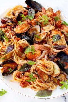 Frutti di Mare Recipe ( Seafood Spaghetti )