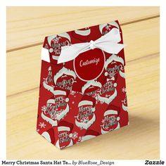Merry Christmas Santa Hat Tent Favor Box Christmas Favors, Merry Christmas Santa, Christmas Card Holders, Holiday Parties, Holiday Cards, Christmas Cards, Favor Boxes, Santa Hat, Colorful Backgrounds