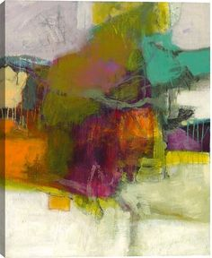 Eradication I Abstract Canvas Wall Art Print by Bob Hunt