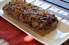 HEALTHY banana loaf sealed with chocolate.so moist! Decadent Chocolate, Healthy Baking, Baked Goods, Banana Bread, Brownies, Rolls, Cooking, Desserts, Food