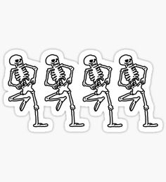 'Spooky Scary Skeletons' Sticker by Graograman Stickers Cool, Tumblr Stickers, Printable Stickers, Laptop Stickers, Halloween Stickers, Halloween 2020, Spooky Scary, Aesthetic Stickers, Sticker Design