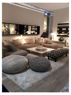 Classy Living Room, Cozy Living Rooms, Home Living Room, Apartment Living, Interior Design Living Room, Cozy Apartment, Modern Living Room Designs, Cool Living Room Ideas, Modern Small Living Room
