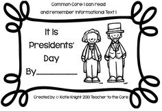 "Presidents' Day Freebie! This blog post is filled with pictures, songs, and videos too!!! Plus, there is a Social Studies test to go with this ""little book"""