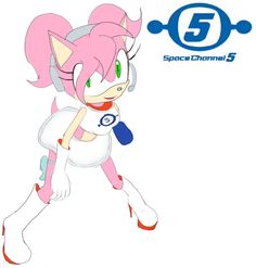 Space Channel 5 is funny Amy Rose-Ulala Sonic The Hedgehog, Cute Hedgehog, Sonic And Amy, Sonic And Shadow, Amy Rose, All Star, Waifu Material, Sonic Fan Art, Miraclous Ladybug