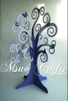 The Family Tree. Basically a wooden free standing 3D tree which can be used for crafts, Christmas,Christening, Easter, birthday,wedding guestbook, jewellery stand. Wishing tree or family tree with family names hanging from the tree etc. Also available in other designs at www.myourcrafts.co.uk