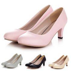 39b49c3c68 Party Bridal Kitten heel Fashion Court pumps ladies office mid heel Shoes  Size
