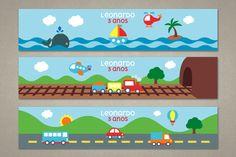 Meios de Transporte - Rótulo para Água Mineral