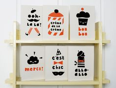 """paris"" series from darling clementine. tres mignon!!"