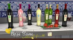 In a bad romance: Two new wine bottles: Syrah & Sauvignon Blanc • Sims 4 Downloads