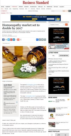 Homoeopathy market set to double by 2017 http://www.business-standard.com/article/companies/homoeopathy-market-set-to-double-by-2017-115040801062_1.html
