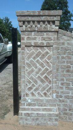 Brick Driveway, Driveway Entrance, Brick Fence, Entrance Gates, Circle Driveway, Brick Wall Gardens, Brick Mailbox, Brick Construction, Brick Architecture