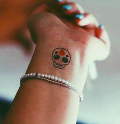 sugar skull tat