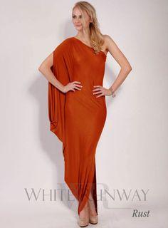 One Shoulder Carmela Dress - White Runway
