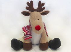 Reggie Reindeer Soft Toy Pattern | YouCanMakeThis.com