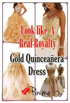 Gold Quinceanera dress- These insider tips from social occasions party planners will allow you to identify an ideal Gold Quinceanera dress in no time! Party Planners, Quinceanera Dresses, Timeless Beauty, Different Patterns, Every Girl, Royalty, Princess, Formal Dresses, Elegant