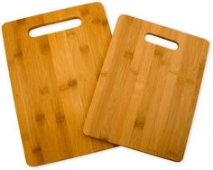Totally Bamboo 20-2038 Bamboo Cutting Board Set, 2-Board Set by Totally Bamboo. $11.17. Set of 2 cutting boards made of bamboo--an ecologically green alternative to wood. Made from organically grown, strong, dense Moso bamboo. Clean with warm water with a mild soap; treat with mineral oil to preserve and extend board's life. Made from organically grown. dense Moso bamboo. Large board measures 9-1/2 by 13-3/8 inches; small measures 8-1/2 by 11 inches; both measur...