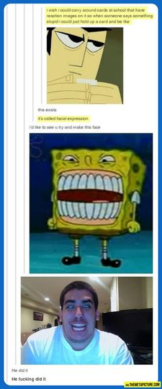 Facial expressions card…