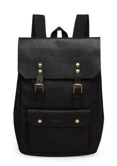 black leather backpack for a day in the city