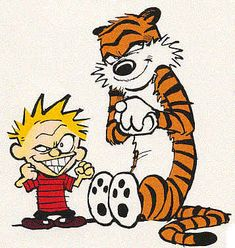 Calvin and Hobbes by Bill Watterson (If I ever have a kid, I hope it's half as crazy and quirky and awesome as Calvin.) <<Are you CRAZY! Who wants to DEAL with that? XD <<Two kinds of people. Calvin And Hobbes Tattoo, Calvin And Hobbes Comics, Calvin And Hobbes Quotes, Beste Comics, Karla Gerard, Comic Art, Comic Books, Pokerface, Bd Comics