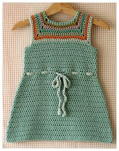 Crochet baby dress♥
