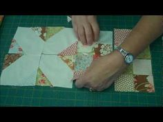 Jenny Doan shows how a really complicated looking quilt can be made easily.  Watch the 4 Patch and the X's and O's tutorials before attempting this (links are below):    Scrappy 4 Patch:  http://www.youtube.com/watch?v=MJCSoljKnqU    X's and O's Quilt Block Tutorial:  http://www.youtube.com/watch?v=Tyj9jCTlmc4    To ...