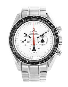 Pre-owned Limited Edition Omega Speedmaster Moonwatch 311.32.42.30.04.001 Gents Manual watch. 42 mm Steel case, with White dial. In stock now