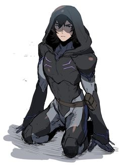 Keith in his Blade of Marmora armor and hood from Voltron Legendary Defender Voltron Klance, Voltron Comics, Voltron Fanart, Form Voltron, Voltron Ships, Blade Of Marmora, Deku Cosplay, Keith Kogane, Allura