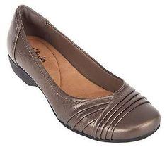 51da4d412fd Clarks Bendables Propose Pixie Leather Ballet Flats Leather Ballet Flats
